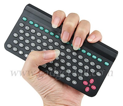this is a mini bluetooth keyboard a palm size keyboard with 83 keys