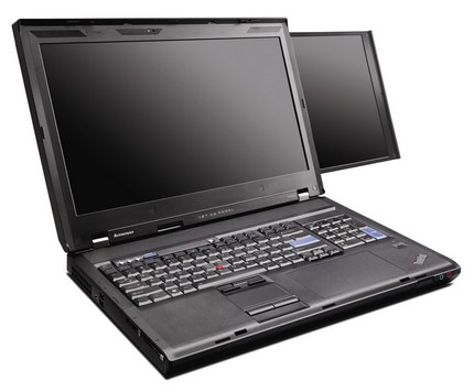 lenovo officially announced its thinkpad w700ds dual screen notebook ...