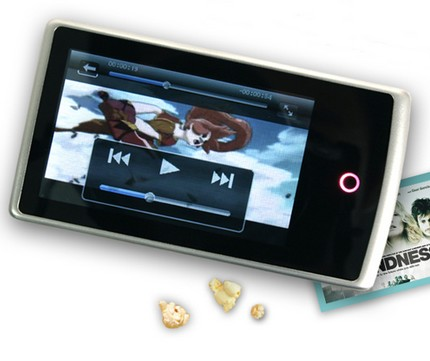 the iPod touch. The T50 features a 2.6-inch 400×240 touchscreen, 4GB of