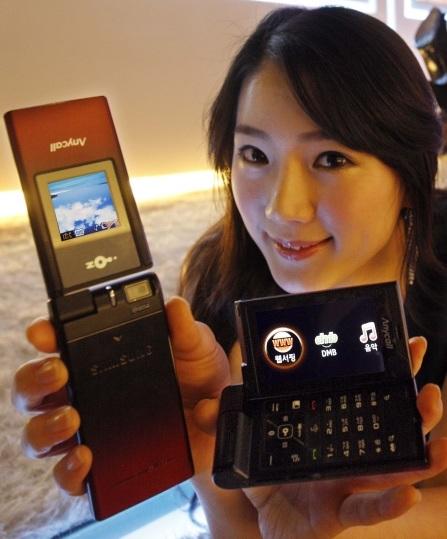 lg oz samsung sph w6450 double folder phone