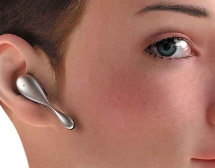 Tiny Bluetooth Headset looks like an earring