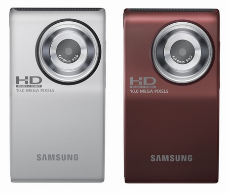 Samsung HMX-U10 Compact Full HD Camcorder silver, red