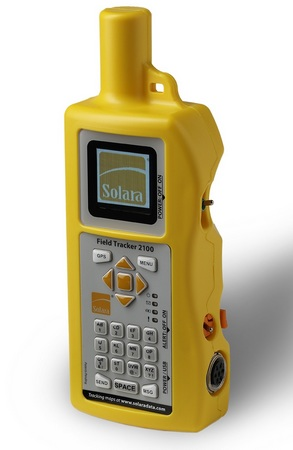 solara field tracker 2100 handheld satellite text. Black Bedroom Furniture Sets. Home Design Ideas