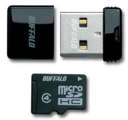 Buffalo RMUM-H Ultra Tiny USB Drive-microSDHC Reader Black