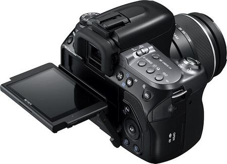 Sony Alpha a550 DSLR flip lcd