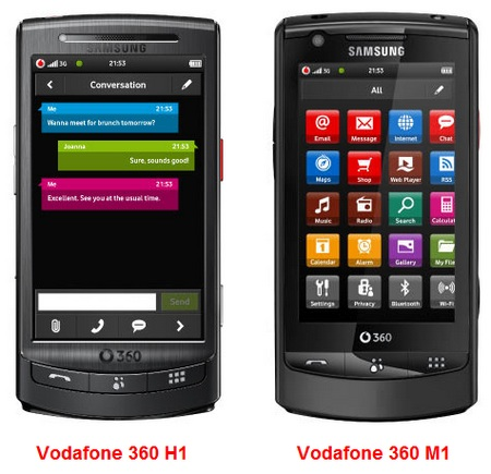 Vodafone 360 and Samsung H1 and M1 Touchscreen Phones ...