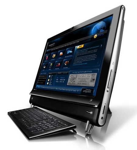 HP TouchSmart 9100 Multitouch Business PC. Along with the new TouchSmart 300
