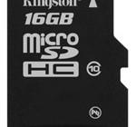 Kingston 16GB Class 10 microSDHC