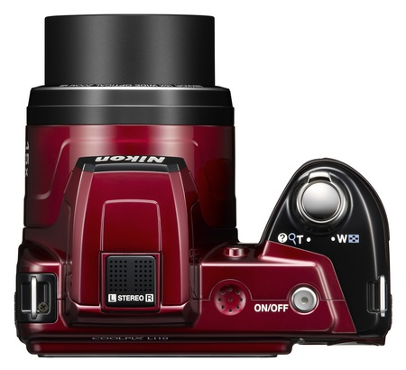 Nikon CoolPix L110 15x zoom camera top