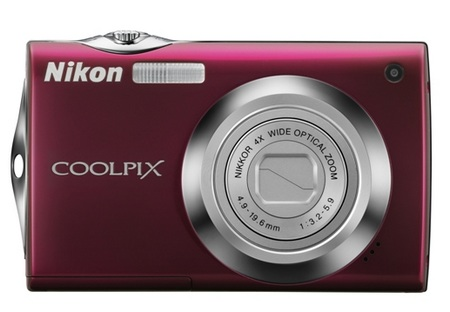 Nikon CoolPix S4000 Touchscreen Digital Camera red