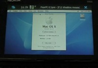 Nokia N900 runs Mac OS X 10.3