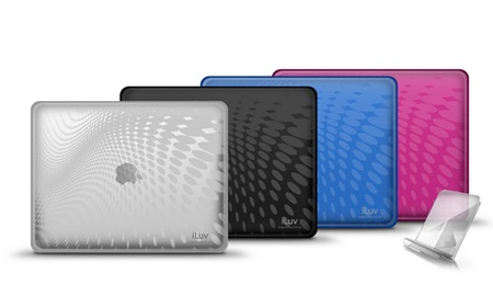 iluv iCC802 Flexi-Clear (TPU) Case with Dot Wave Pattern for iPad