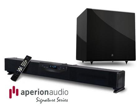 Aperion Signature SLIMstage30 Soundbar Speaker subwoofer bundle