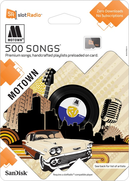 SanDisk slotRadio Motown Card for Mother's Day