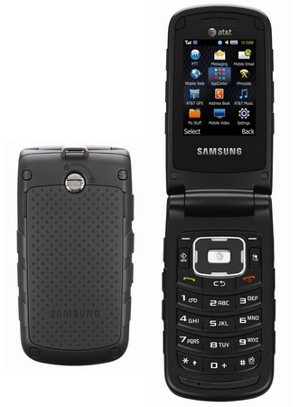 AT&T Samsung Rugby II Push-to-Talk Phone with Military Grade Design back