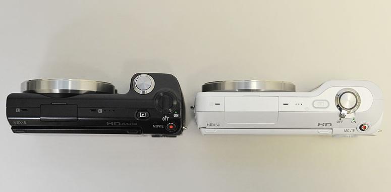 Sony NEX-3 Vs Sony NEX-5 Top