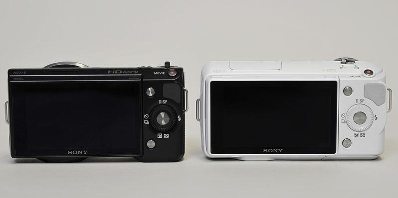 Sony NEX-3 Vs Sony NEX-5 back