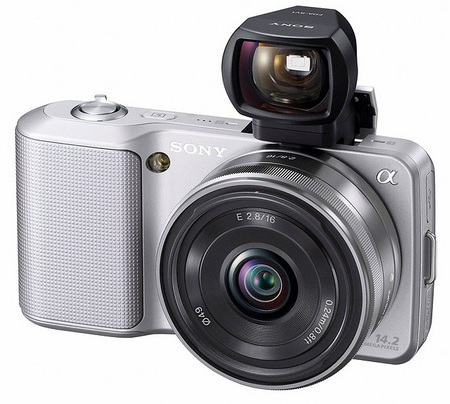 Sony NEX-5 Ultra-Compact DSLRs with FDA-SV1 viewfinder