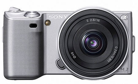 Sony NEX-5 Ultra-Compact DSLRs with interchangeable lenses Silver