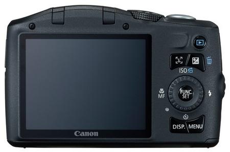 Canon PowerShot SX130 IS 12x Ultra Zoom Camera back
