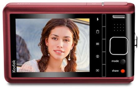 Kodak EasyShare M590 - Thinnest 5x Optical Zoom Camera red back