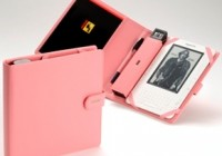 Periscope Lighted Folio for Amazon Kindle 2 and NOOK pink