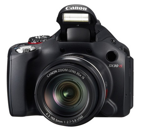 Canon PowerShot SX30 IS Digital Camera with 35x Optical Zoom flash