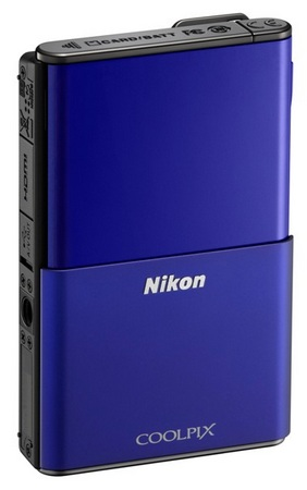 Nikon CoolPix S80 Camera with OLED Touchscreen blue
