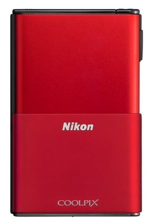 Nikon CoolPix S80 Camera with OLED Touchscreen red