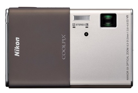 Nikon CoolPix S80 Camera with OLED Touchscreen silver brown