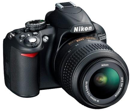Nikon D3100 Entry-level DSLR angle