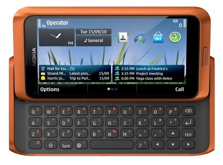 Nokia E7-00 Symbian^3 Phone with QWERTY orange