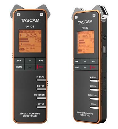 TASCAM DR-03 Portable Audio Recorder 1