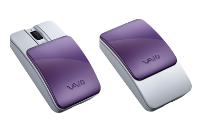 Sony VAIO VGP-BMS15 Bluetooth Slider Mouse with Interchangeable Cover