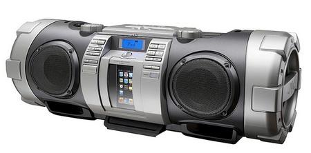 JVC RV-NB70 Kaboom! Portable Audio Boombox silver