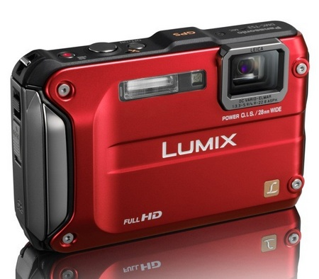 Panasonic LUMIX DMC-TS3 Rugged Digital Camera red