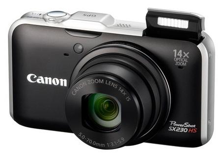 Canon PowerShot SX230 HS GPS-enabled Digital Camera black