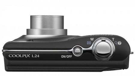 Nikon CoolPix L24 digital camera top