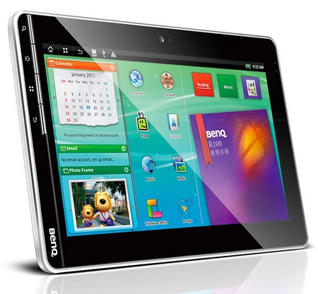 BenQ R100 Android Tablet landscape