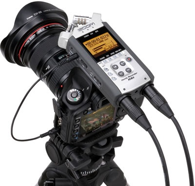 Zoom H4n Handheld Recorder Supports 4 Channel Audio
