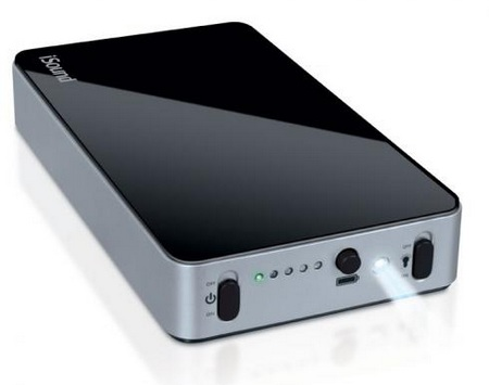 i.Sound Portable Power Max Backup Battery with 16,000mAh and Five USB Ports