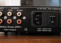 Epiphany Acoustics EHP-1 Headphone Amplifier back