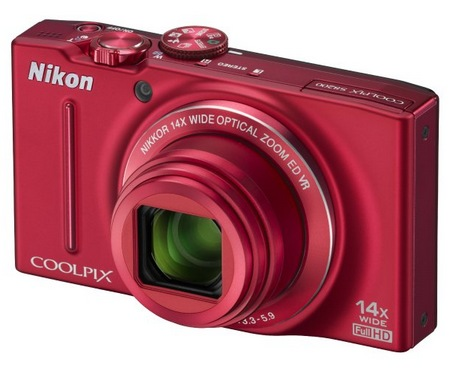 Nikon CoolPix S8200 Compact Camera with 14x Optical Zoom red