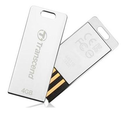 Transcend JetFlash T3 Tiny USB Flash Drive silver
