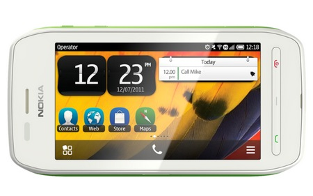 Nokia 603 Symbian Phone with IPS Display and NFC green