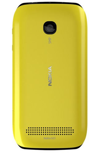 Nokia 603 Symbian Phone with IPS Display and NFC yellow