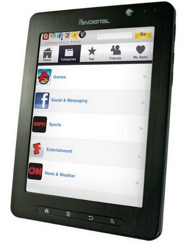 Pandigital's SuperNova supports WiFi 802.11b/g/n, Bluetooth 2.1 and