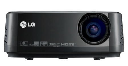 LG HX350T Portable Projector with integrated Digital TV Tuner front