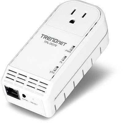 TRENDnet TPL-307E 200Mbps Powerline AV Adapter with Bonus Plug 1