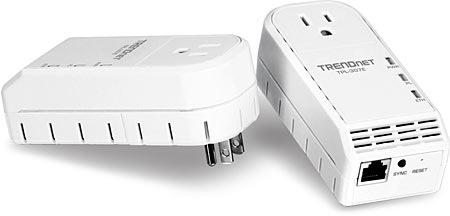 TRENDnet TPL-307E 200Mbps Powerline AV Adapter with Bonus Plug